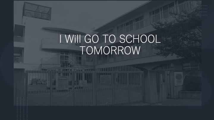 I am going to go to school tomorrow はおかしい。